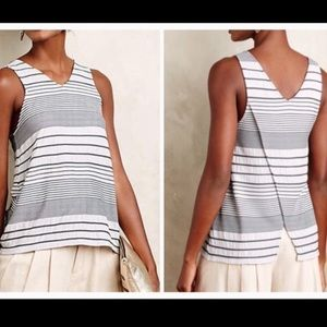 Anthro Deletta | Stacked Striped Open Back Tank